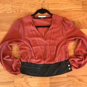 Tops - High waisted chiffon pull over